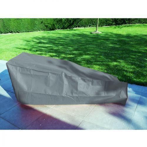Housse de protection bain de soleil ou chaise longue anthracite achat vente housse meuble - Housse de protection chaise ...