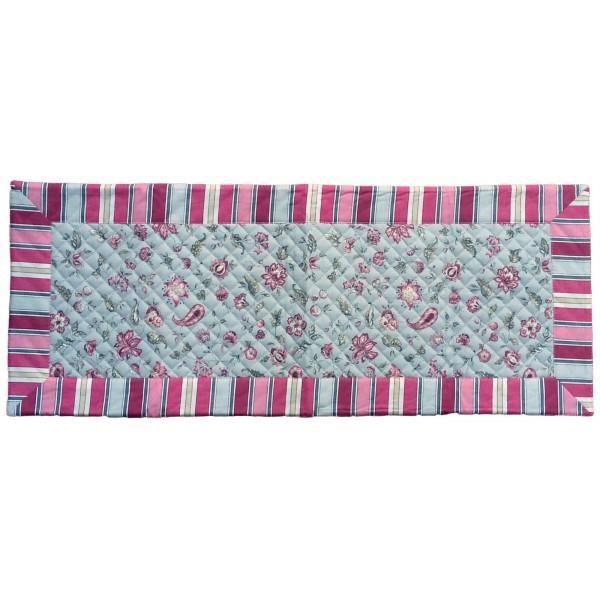 Chemin de table vence gris matelass 75 cm x 3 achat for Set de table matelasse