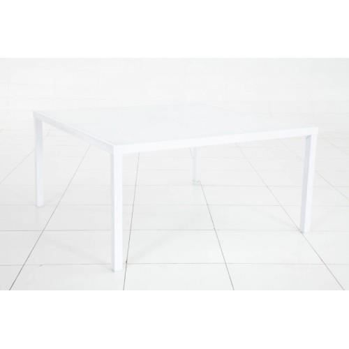 Table montezalo carree blanc hesperide achat vente for Table carree 8 couverts