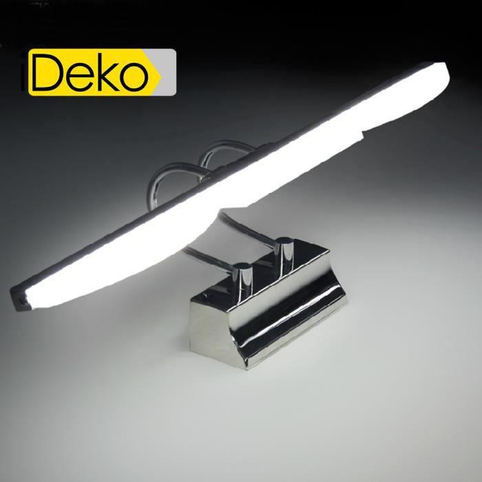 iDeko® Lampe de Salon mural à LED salle de bains 60cm Aluminium ...
