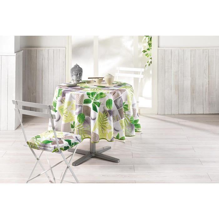 nappe ronde 180 cm equateur vert achat vente nappe de table cdiscount. Black Bedroom Furniture Sets. Home Design Ideas