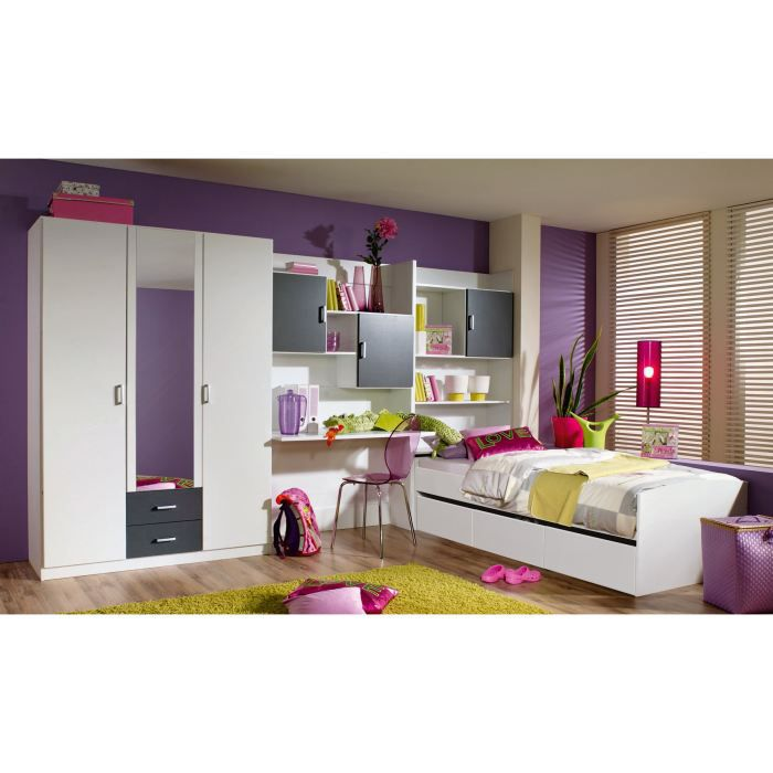 chambre enfant compl te lois avec tiroir lit achat. Black Bedroom Furniture Sets. Home Design Ideas