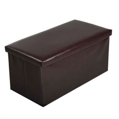 banquette assise pouf de rangement pliable simili cuir. Black Bedroom Furniture Sets. Home Design Ideas