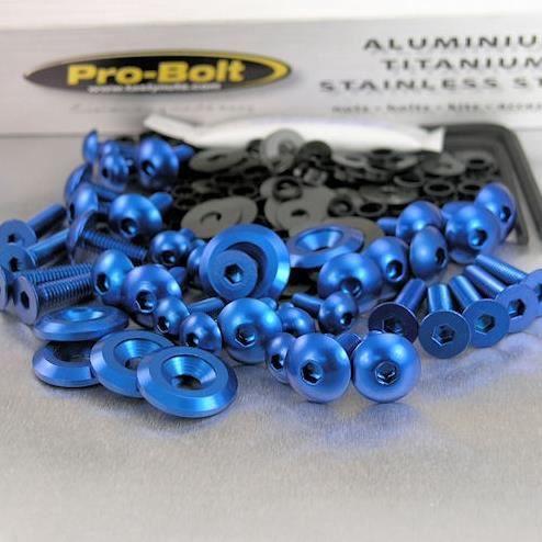 Kit visserie carénage dt 125r 88 04 (13 pièces) (bleu) Achat