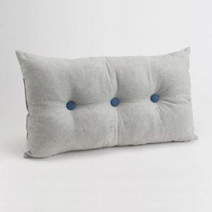 coussin bleu gris achat vente coussin bleu gris pas cher cdiscount. Black Bedroom Furniture Sets. Home Design Ideas