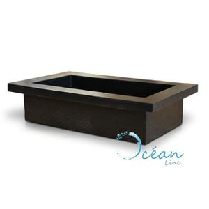Vasque noire rectangulaire achat vente vasque noire for Miroir xxl a poser