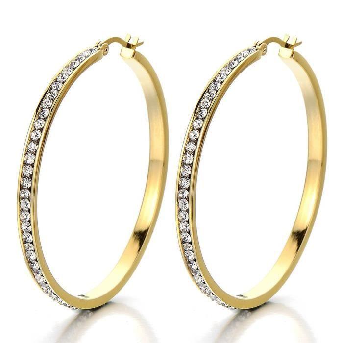2 anneau boucle d 39 oreille charni re avec zircone cubique femme filles boucles cr oles acier. Black Bedroom Furniture Sets. Home Design Ideas