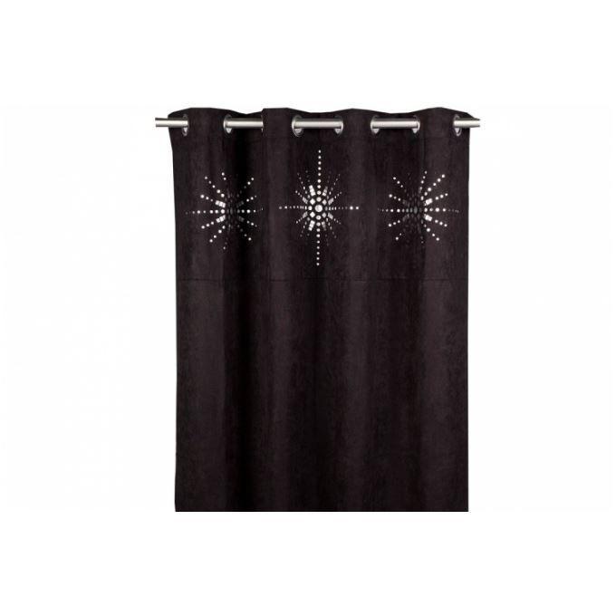 rideau oeillet japonais noir 140x260 cm achat vente rideau polyester cdiscount. Black Bedroom Furniture Sets. Home Design Ideas