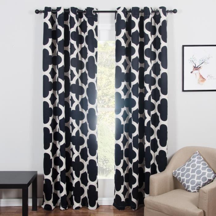 rideau de cuisine avec motif achat vente rideau de cuisine avec motif pas cher cdiscount. Black Bedroom Furniture Sets. Home Design Ideas