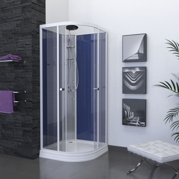 aurlane cabine de douche night blue 85x85cm achat vente cabine de douche 0 cdiscount. Black Bedroom Furniture Sets. Home Design Ideas