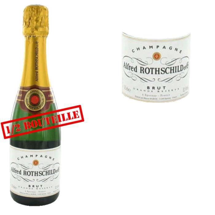 demie champagne alfred rothschild brut achat vente champagne champ a rotchild brut 37 5cl. Black Bedroom Furniture Sets. Home Design Ideas