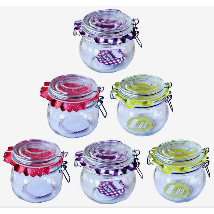 lot 6 pot a confiture etiquette 500 ml rond tran achat vente bocaux lot 6 pot a confiture. Black Bedroom Furniture Sets. Home Design Ideas