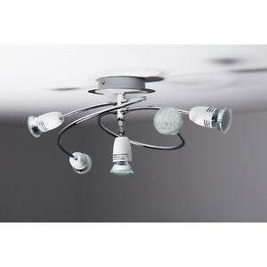luminaire lustre lampe 5 spots sur rail led plafon achat vente luminaire lustre lampe 5 sp. Black Bedroom Furniture Sets. Home Design Ideas