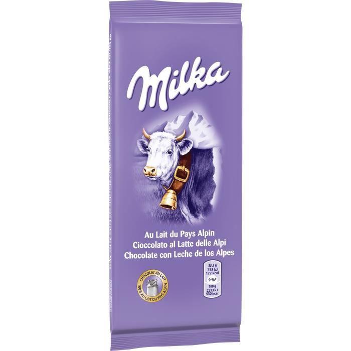 milka tablette de chocolat au lait 200g achat vente chocolat lait chocolat au lait 200gr. Black Bedroom Furniture Sets. Home Design Ideas