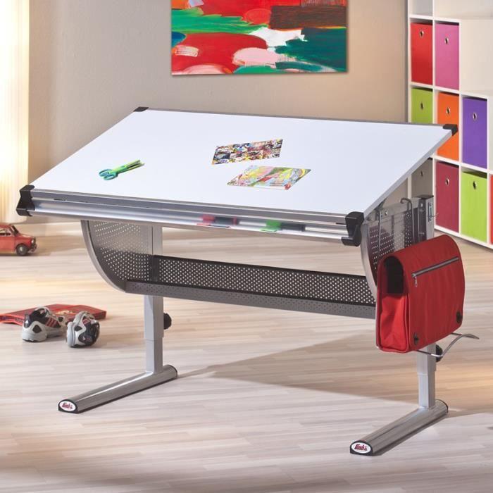paris prix bureau enfant pupitre college 115cm blanc achat vente bureau b b enfant. Black Bedroom Furniture Sets. Home Design Ideas