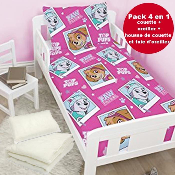 4 en 1 pat patrouille stella parure de lit housse de couette 120x150 1 taie couette. Black Bedroom Furniture Sets. Home Design Ideas