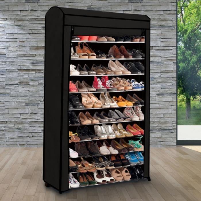 etag re range chaussures 50 paires eco avec sa housse noire achat vente meuble chaussures. Black Bedroom Furniture Sets. Home Design Ideas