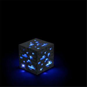 OBJET DÉCORATIF Minecraft Allumer pierre bleue diamant carré Nuit