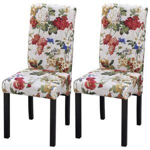 CHAISE Lot de 2 chaises imprimé fleuri