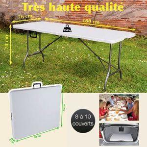 Table pliante reception achat vente table pliante for Table exterieur interieur