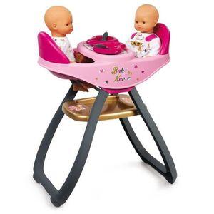 ACCESSOIRE POUPON BABY NURSE Chaise Haute Jumeaux