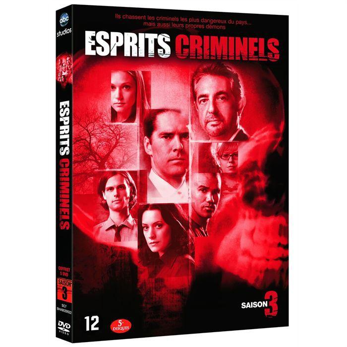 esprits criminels saison 3 l 39 int grale 6 dvd en dvd s rie pas cher cdiscount. Black Bedroom Furniture Sets. Home Design Ideas