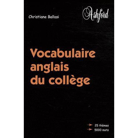 Vocabulaire anglais du coll ge achat vente livre - Vocabulaire anglais vente pret a porter ...