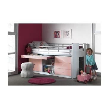 lit enfant multifonctions savane rose achat vente. Black Bedroom Furniture Sets. Home Design Ideas