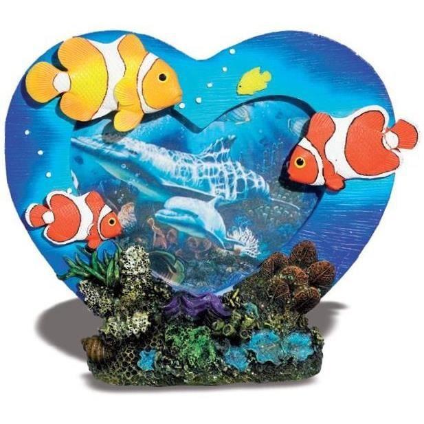Cadre photo coeur figurine poisson clown d cor mer achat for Achat poisson clown