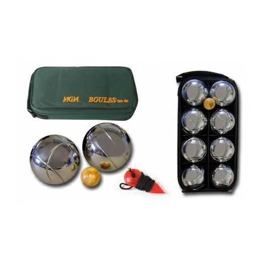 Set de 8 boules 720 gr de petanques avec cochon prix for Prix boules de petanque