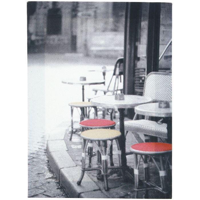 Tableau toile deco paris terrasse de caf 15x20cm achat for Achat terrasse paris