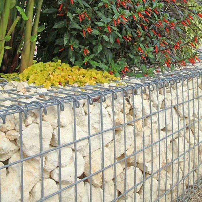 Gabion pour pierres 100x80x30 cm gabions m talliques d co jardin cage m t - Cage gabion pas cher ...