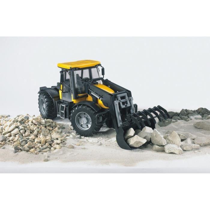 voiture camion bruder tracteur jcb fastrac 3220 avec fourche