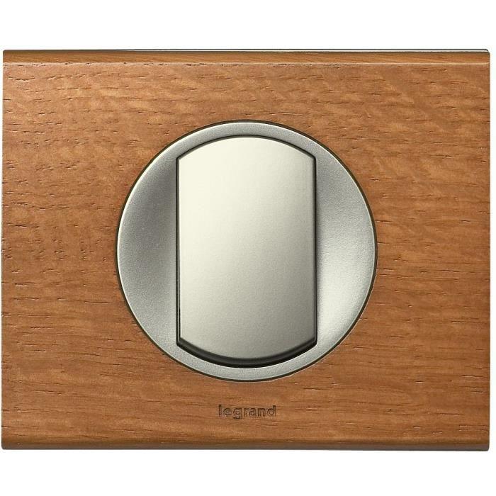 legrand plaque c liane finition ch ne pour 1 poste. Black Bedroom Furniture Sets. Home Design Ideas