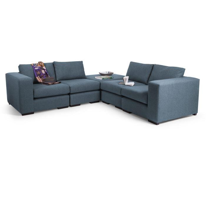 abingdon canap d 39 angle modulable bleu c rul en achat vente canap. Black Bedroom Furniture Sets. Home Design Ideas