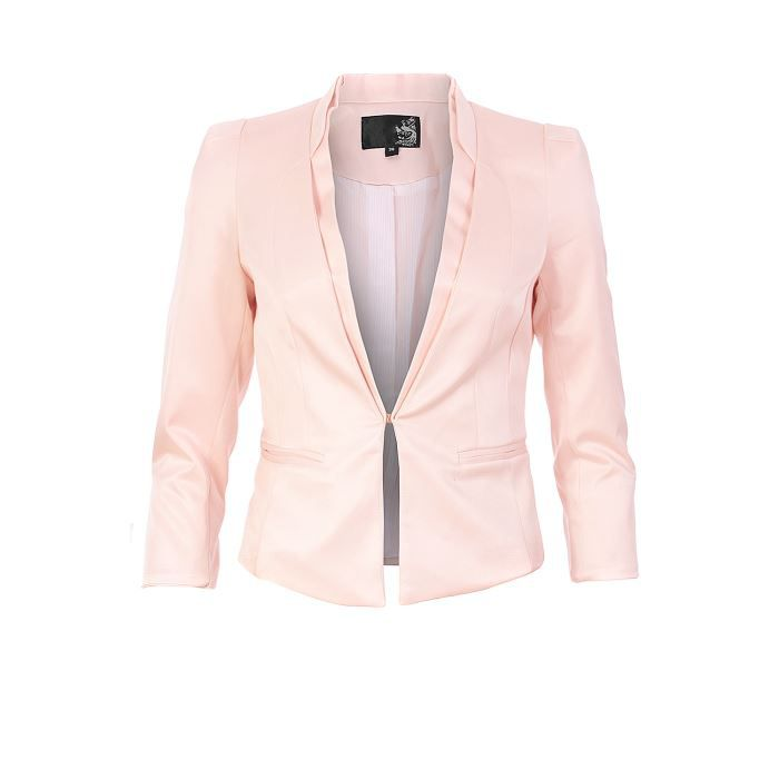 veste spencer manches 3 4 rose pastel rose achat vente veste cdiscount. Black Bedroom Furniture Sets. Home Design Ideas