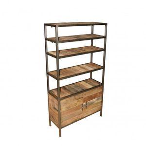 tag re livres cd dvd bois m tal achat vente meuble tag re tag re livres cd dvd bois bois. Black Bedroom Furniture Sets. Home Design Ideas