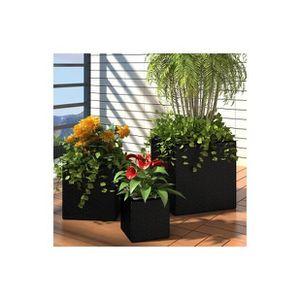 pot de fleur carre noir achat vente pot de fleur carre. Black Bedroom Furniture Sets. Home Design Ideas