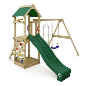 portique bois avec toboggan achat vente jeux et jouets. Black Bedroom Furniture Sets. Home Design Ideas