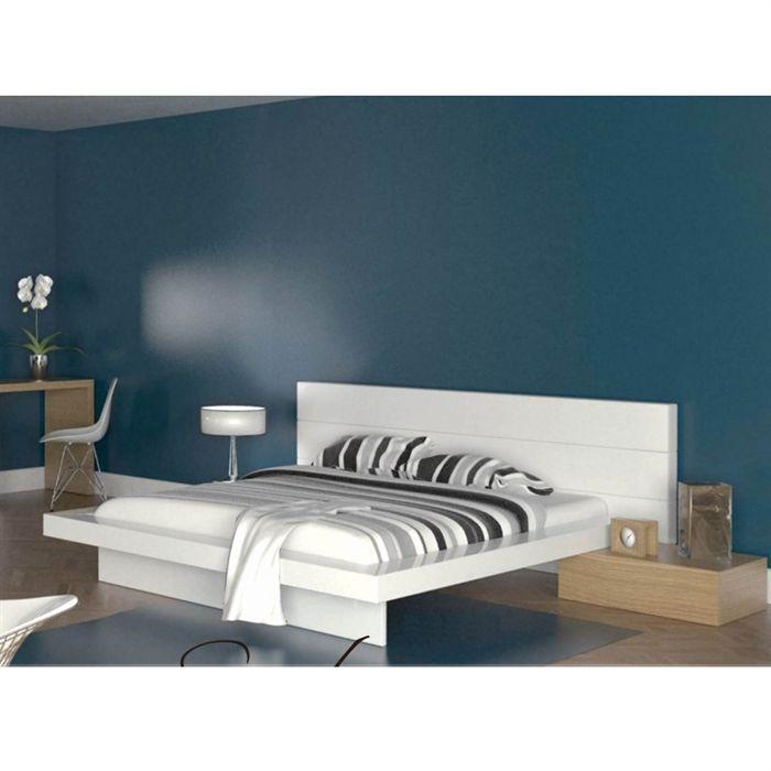 lits 160 cm achat vente lits 160 cm pas cher cdiscount. Black Bedroom Furniture Sets. Home Design Ideas