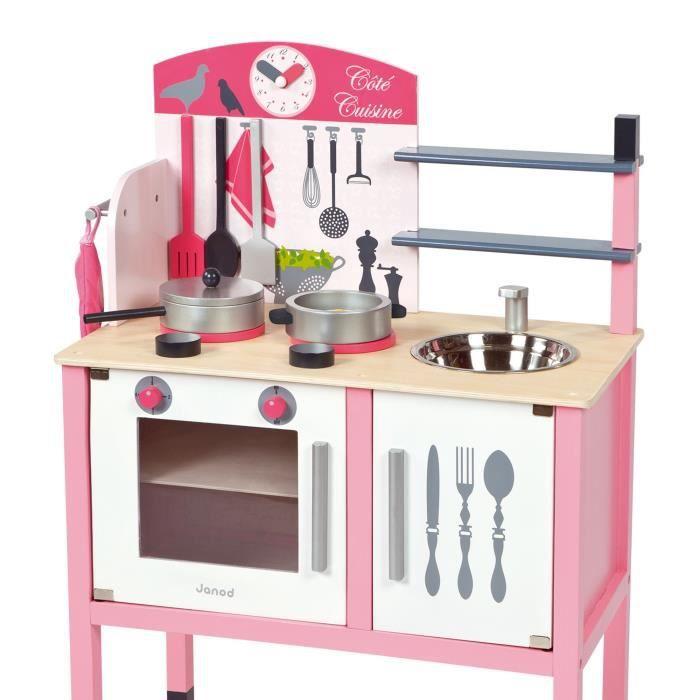 maxi cuisine cuisine en bois rose pour enfant achat vente dinette cuisine cdiscount. Black Bedroom Furniture Sets. Home Design Ideas