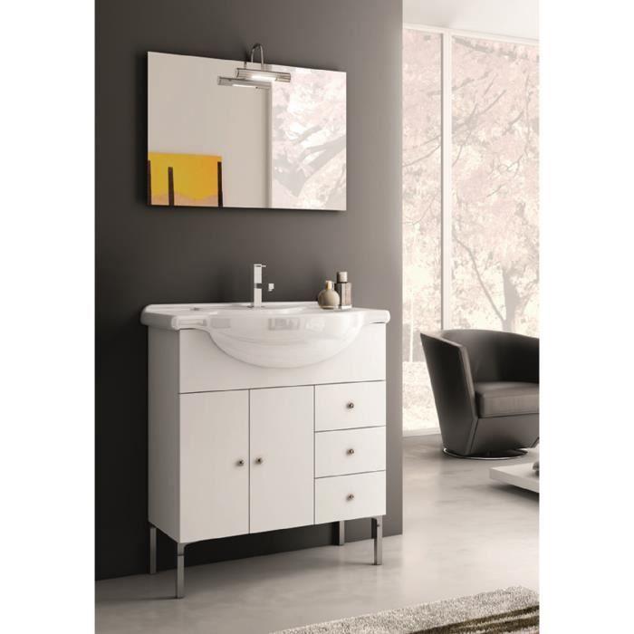 Anastasia meuble pour salle de bains avec vier et miroir for Evier salle de bain avec meuble