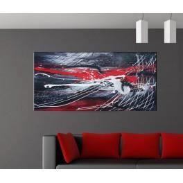 deco soon tableau abstrait 3 h60 x l120 cm achat. Black Bedroom Furniture Sets. Home Design Ideas