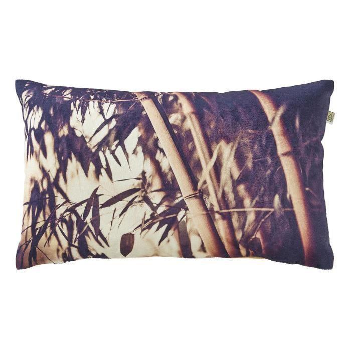 housse de coussin bamboo 30x50 cm sable achat vente. Black Bedroom Furniture Sets. Home Design Ideas