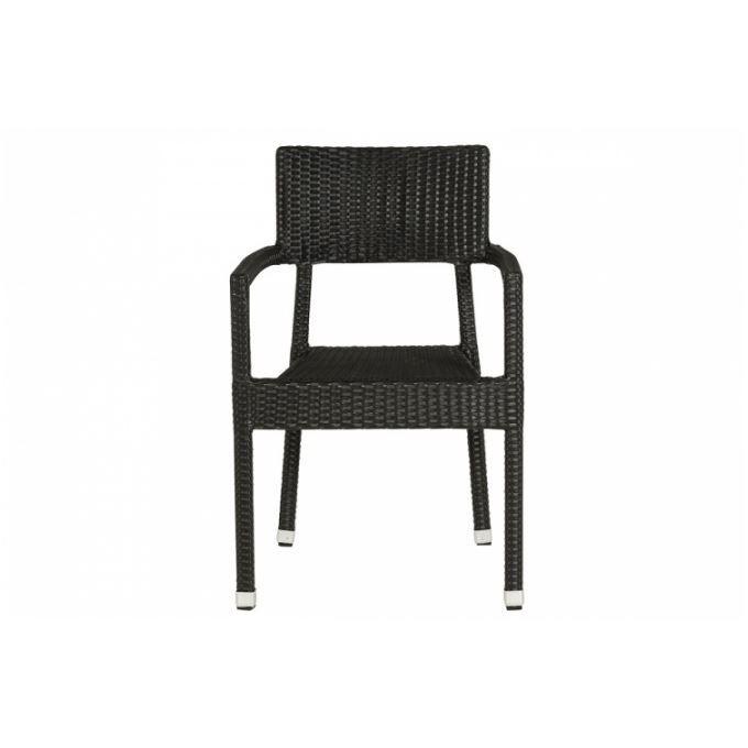 Chaise noire en osier doriane achat vente chaise en for Petite chaise en osier