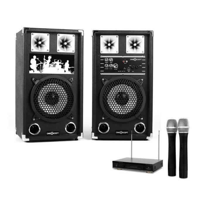 set karaoke star 08a enceintes 8 40w rms avec ports. Black Bedroom Furniture Sets. Home Design Ideas