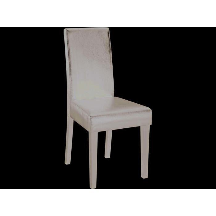 Lot de 2 chaises guevara 55 5 x 45 x 94 cm chocolat achat vente table - Meuble de maison et jardin en c 94 secondes ...