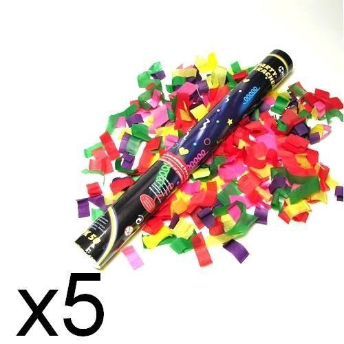 5 canon a confettis multicolores 2700 confettis - Canon A Confetti Mariage