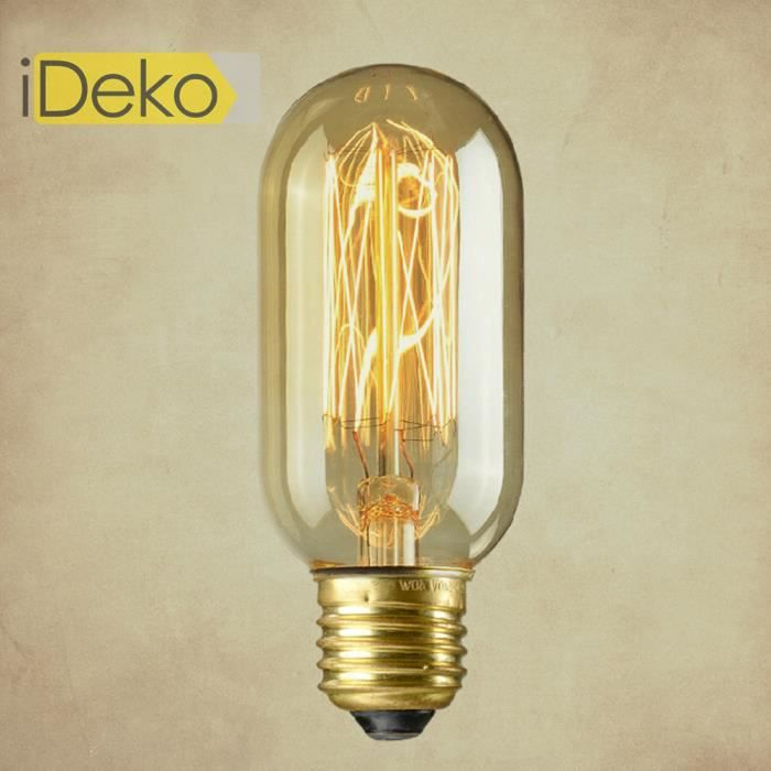 Ideko ampoule e27 40w lampe incandescence art design antique unique industriel idam 2793 - La lampe a incandescence ...