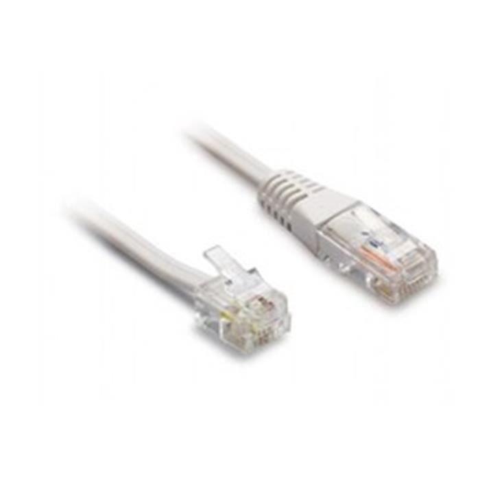 Cordon t l phonique rj11 rj45 m m le achat - Cable telephonique rj45 ...